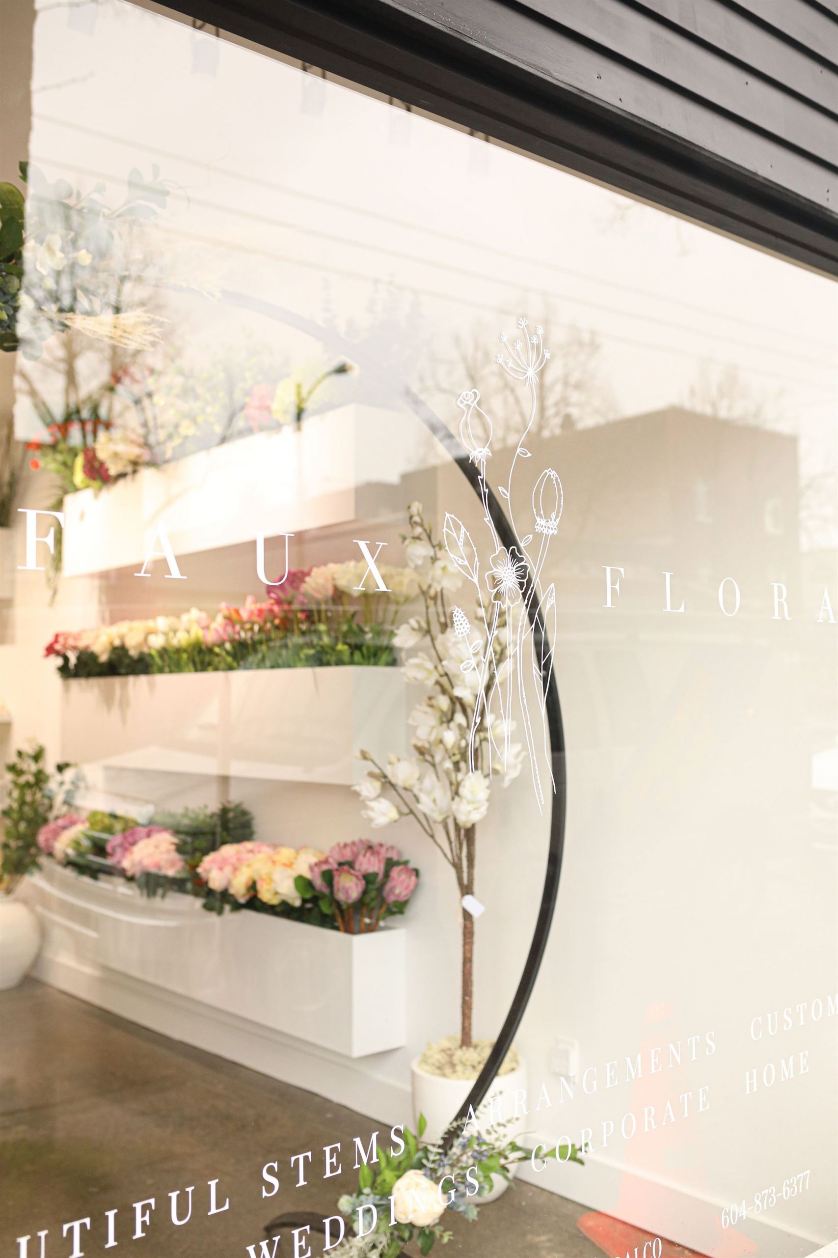 Faux_Floral_Store_ Through the Window